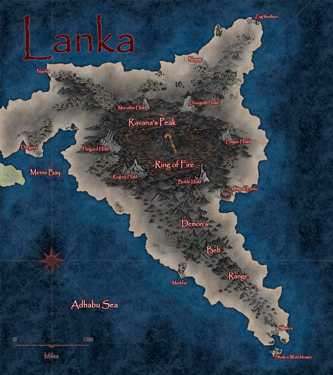 Nibirum Map: lanka by Lorelei