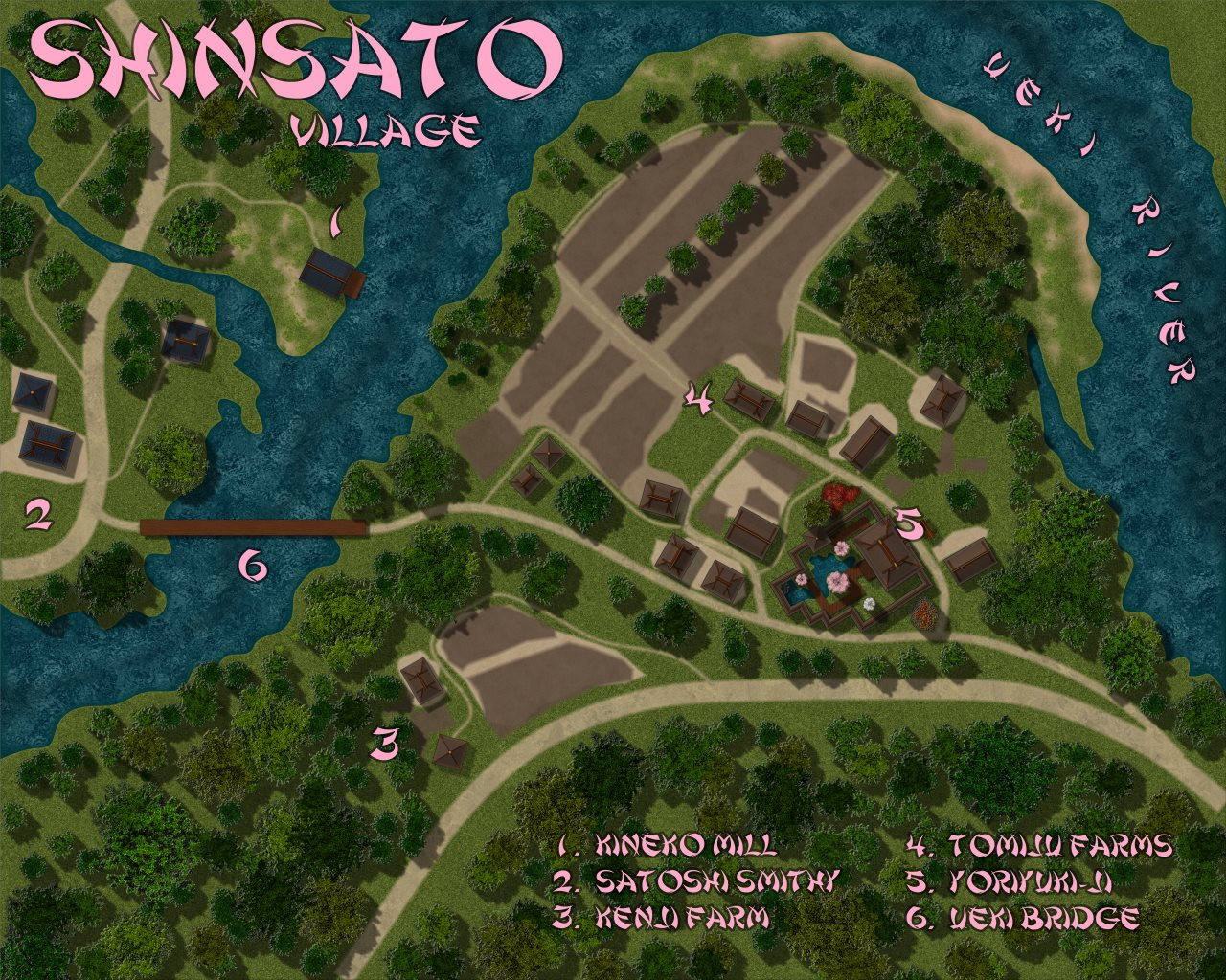 Nibirum Map: shinsato village by Lorelei