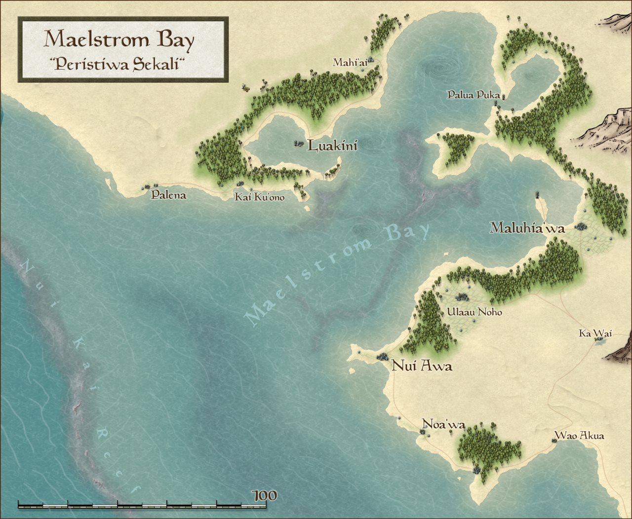 Nibirum Map: maelstrom bay by HadrianVI