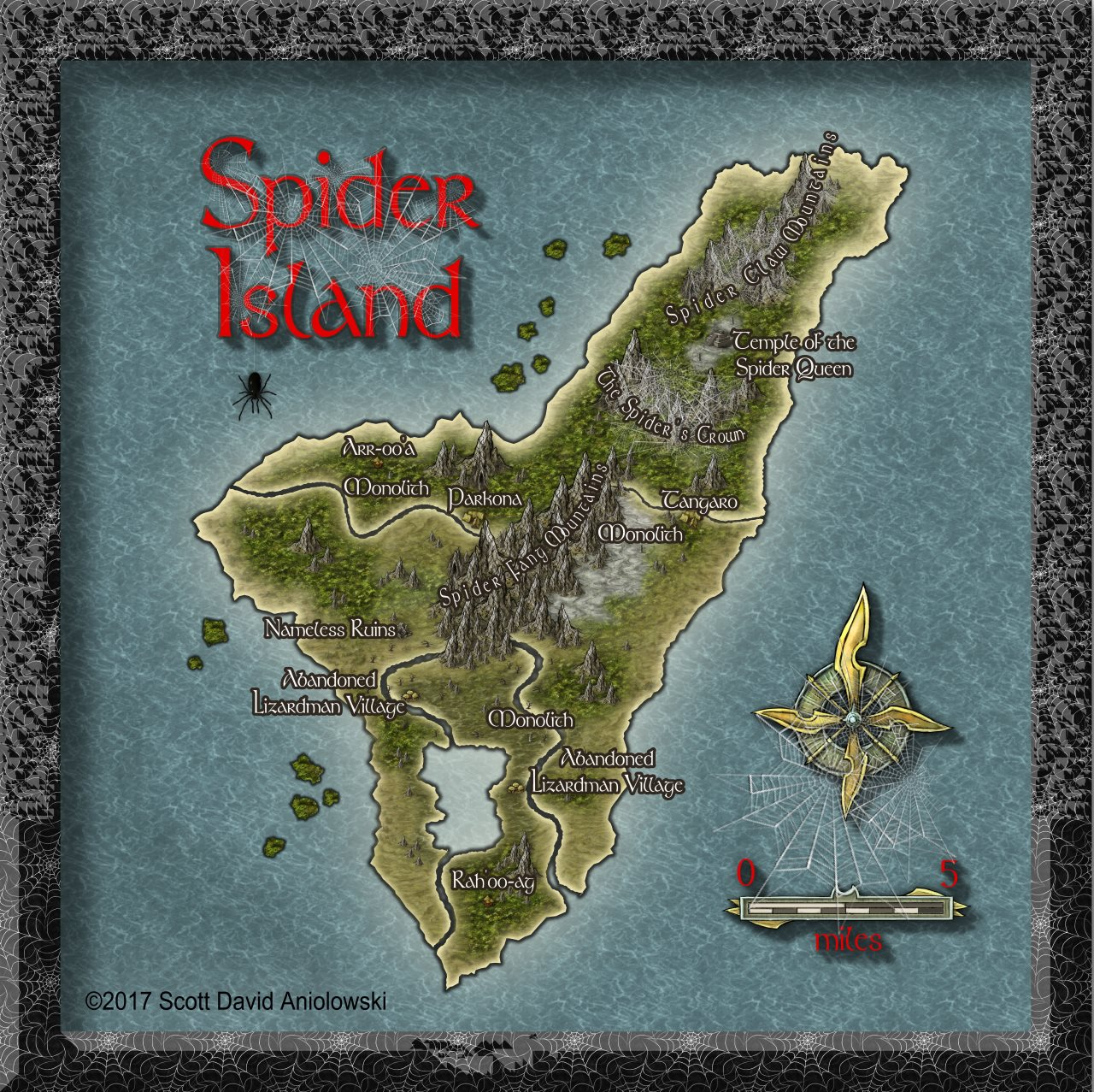 Nibirum Map: spider island by ScottA