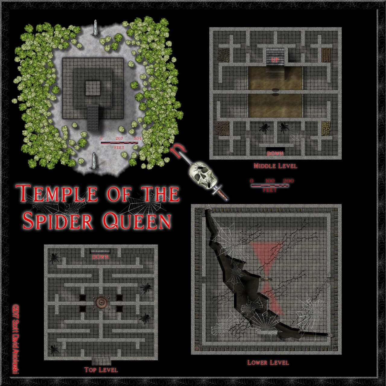 Nibirum Map: temple of the spider queen by ScottA