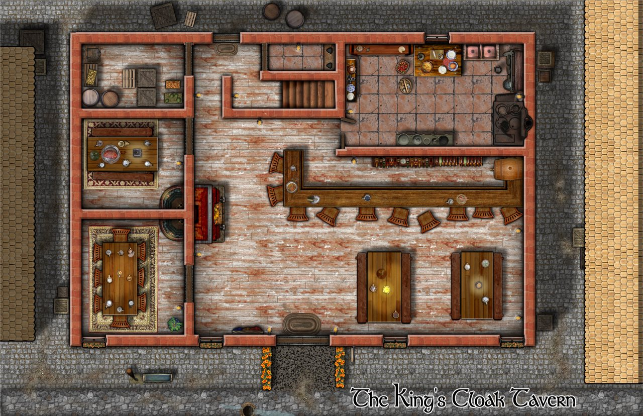 Nibirum Map: kings cloak tavern by Lorelei