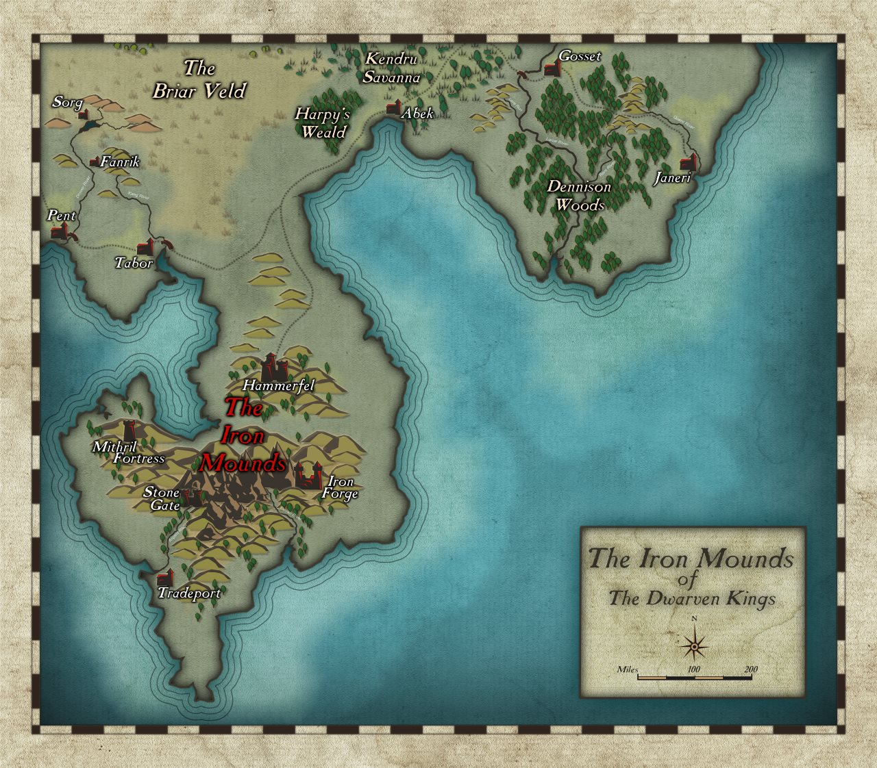 Nibirum Map: iron mounds by Shessar