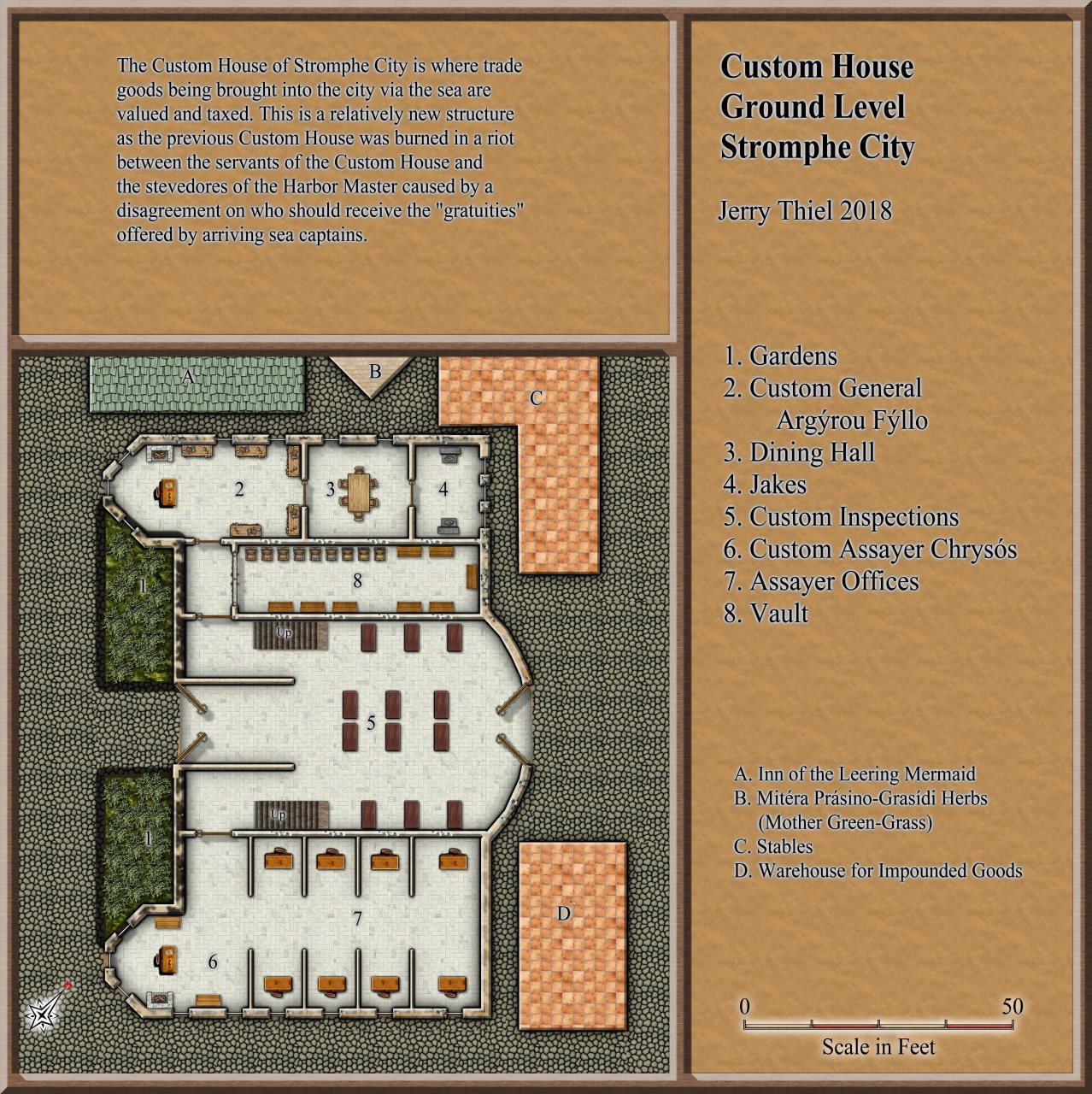 Nibirum Map: Stromphe Custom House by Jerry Thiel