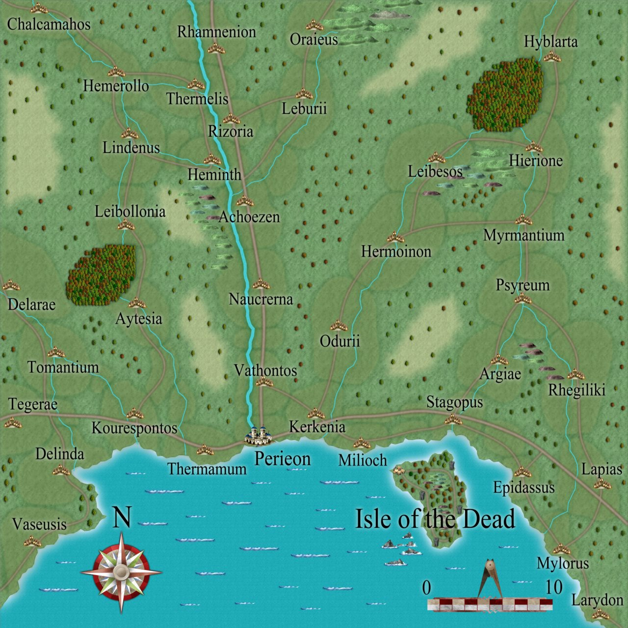 Nibirum Map: perieon environs by Simon Proctor