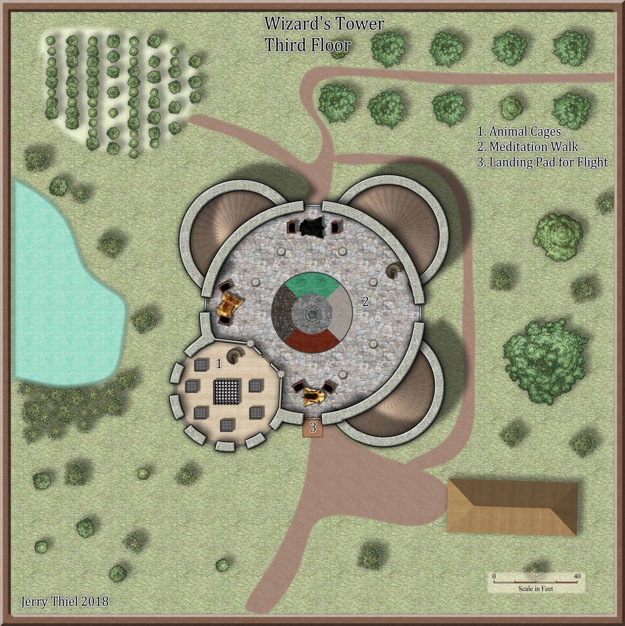 Nibirum Map: wizards tower 3 by Jerry Thiel
