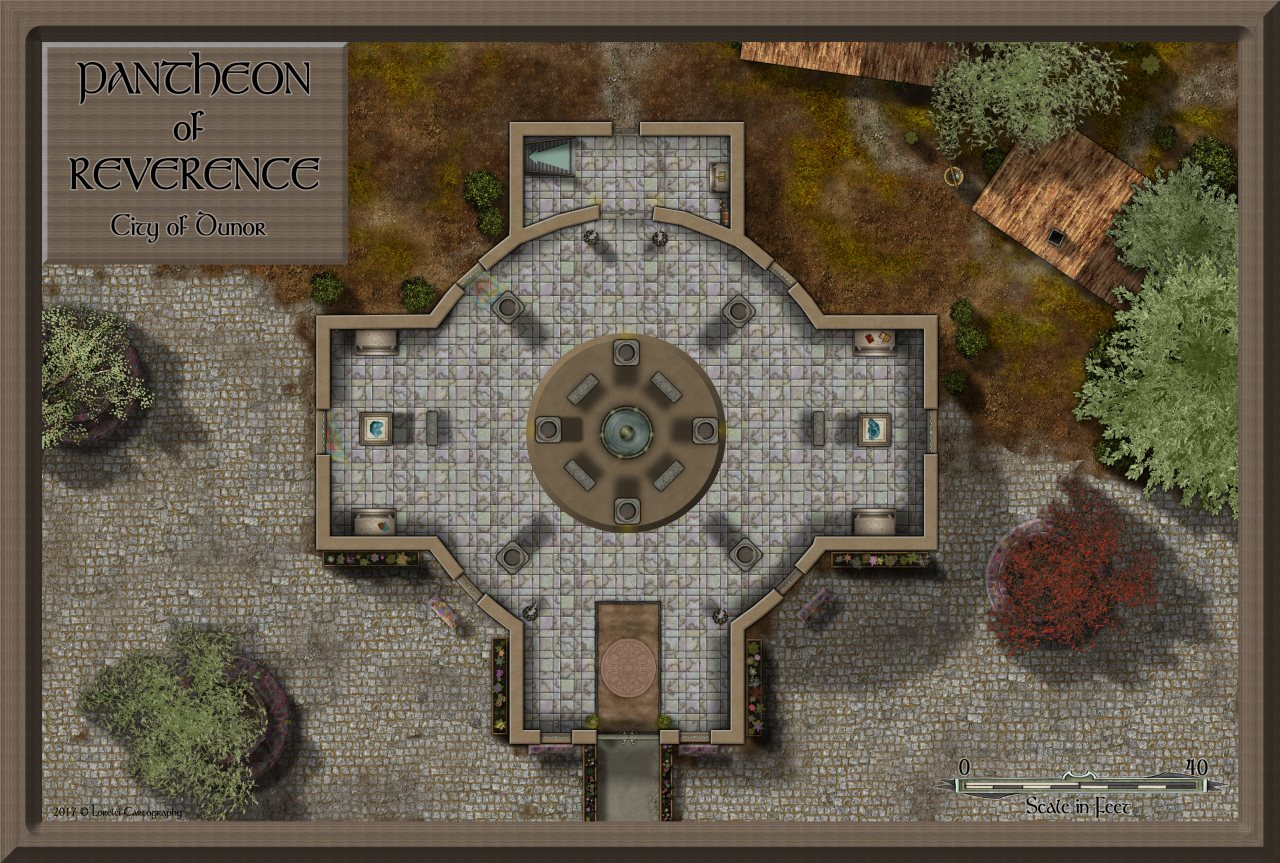 Nibirum Map: pantheon of dunor by Lorelei