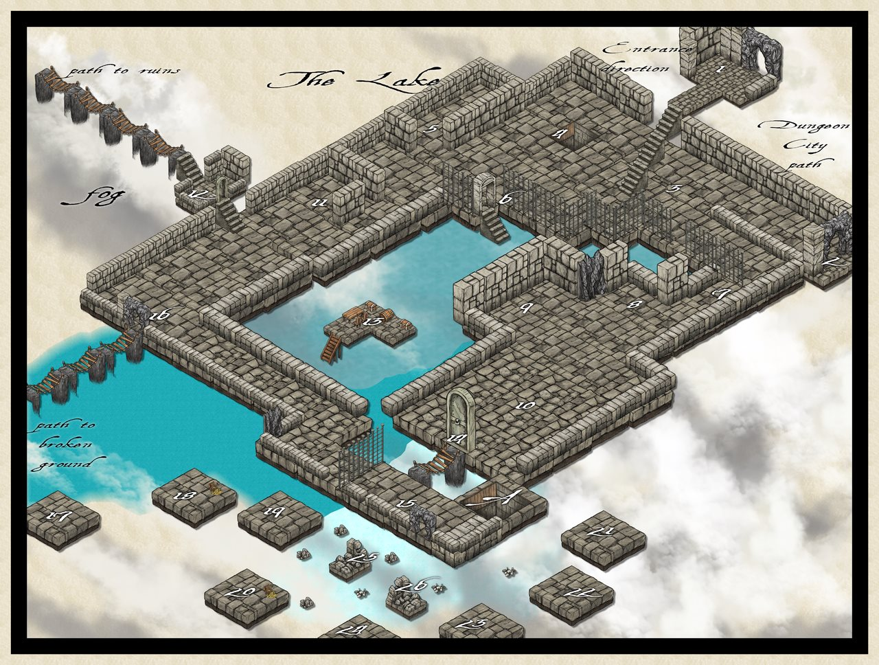Nibirum Map: dungeon city small lake by JimP