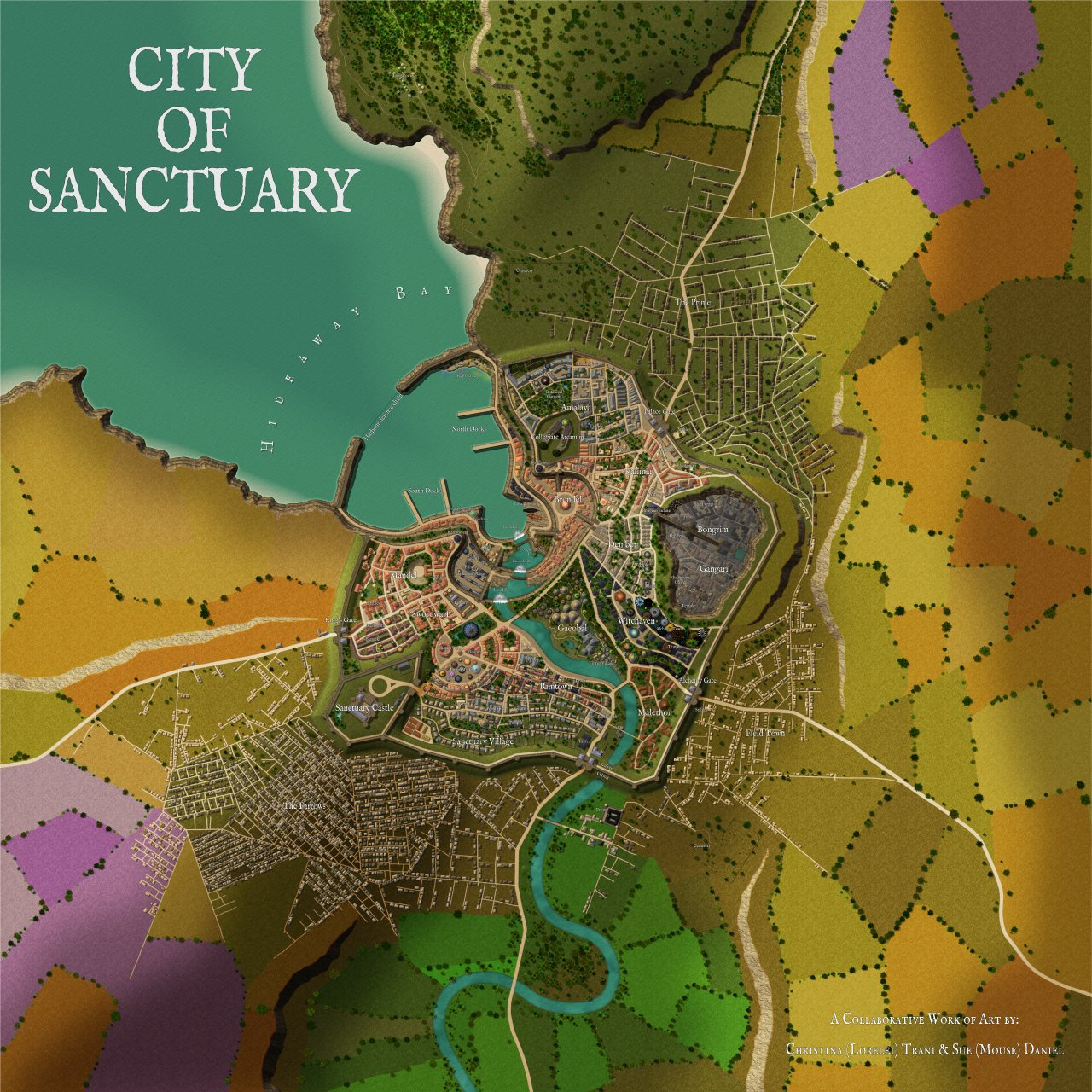 Nibirum Map: city of sanctuary by Sue & Lorelei
