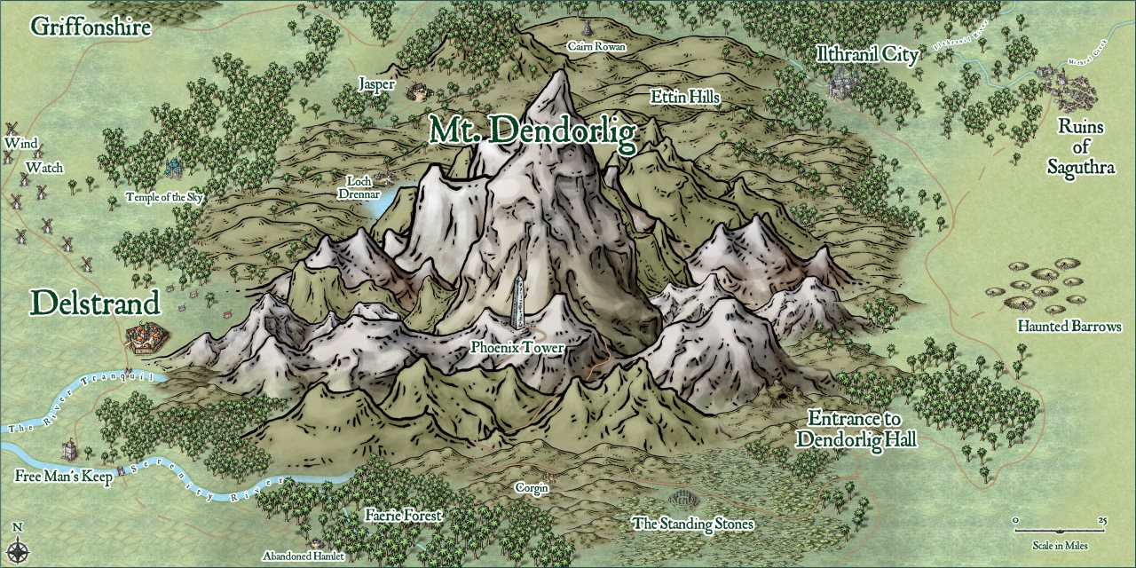 Nibirum Map: mt dendorlig region by Lorelei