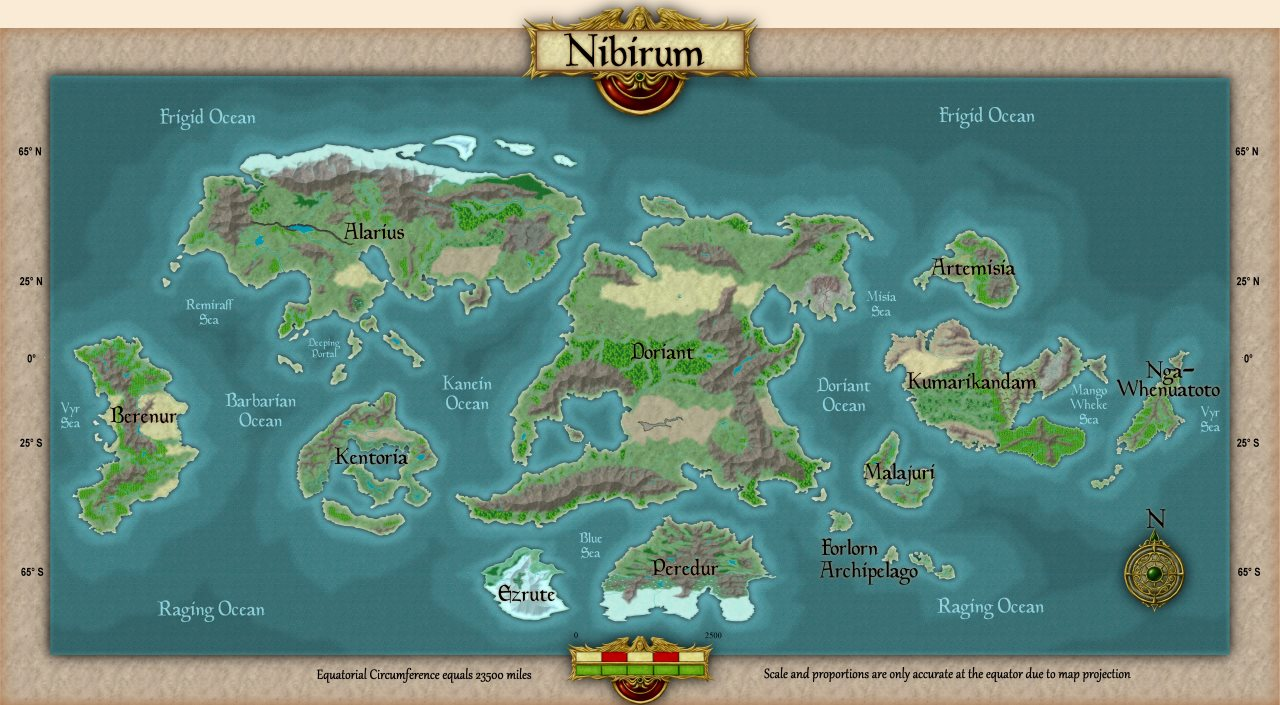 Nibirum Map: world by Shessar